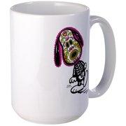 CafePress Day Of The Dog Snoopy Large Mug 15 oz Ceramic Large Mug by