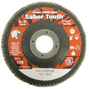 Weiler 804-50132 4-. 50 inch Saber Tooth High Density Abrasive Flap Disc, Fla
