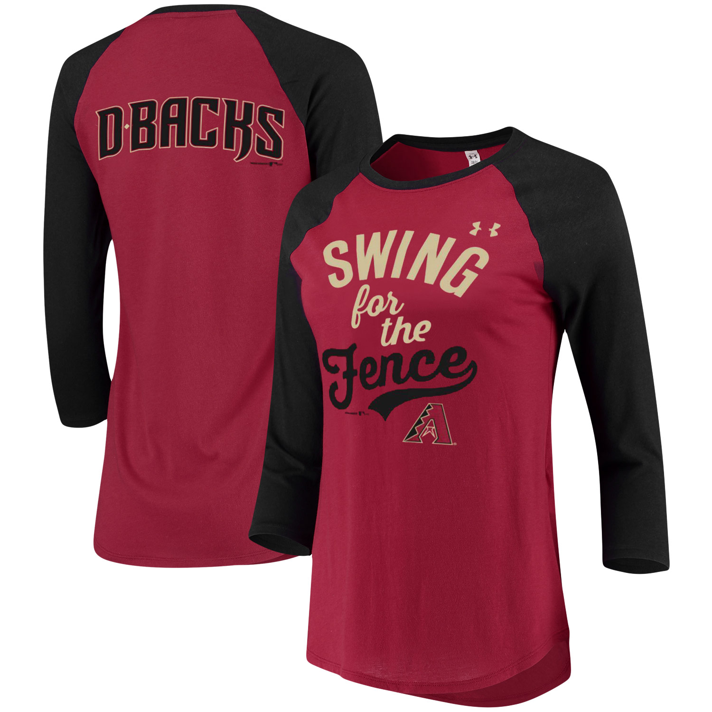 Arizona Diamondbacks Under Armour Women's Baseball 3/4-Sleeve T-Shirt - Crimson