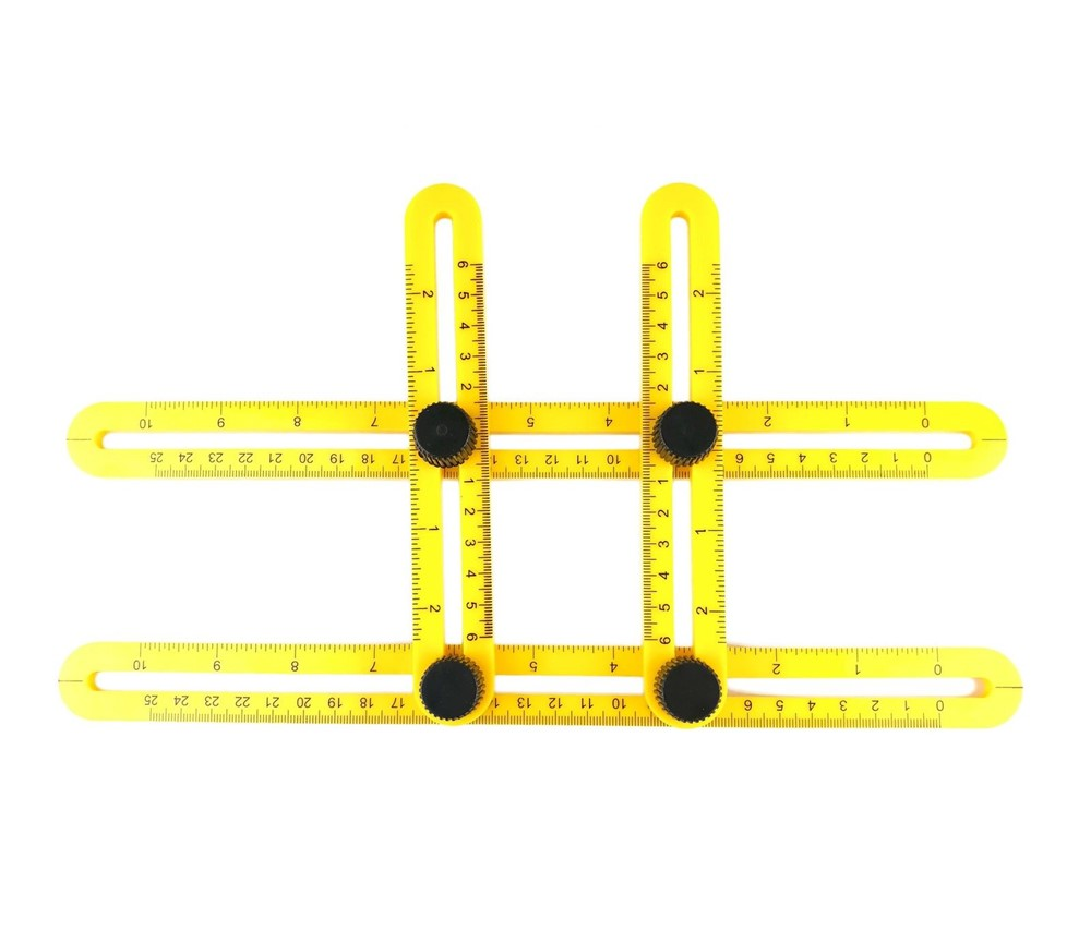 Angle-izer Template Tool Angleizer Measuring Angle Ruler Yellow by