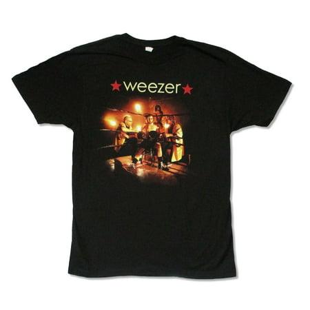 weezer ring 2009 tour mens black t shirt