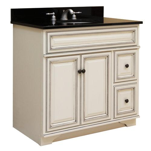 Sunny Wood  SL3621D  Vanity Cabinet  Sanibel  Fixture  Wood  ;Glazed White