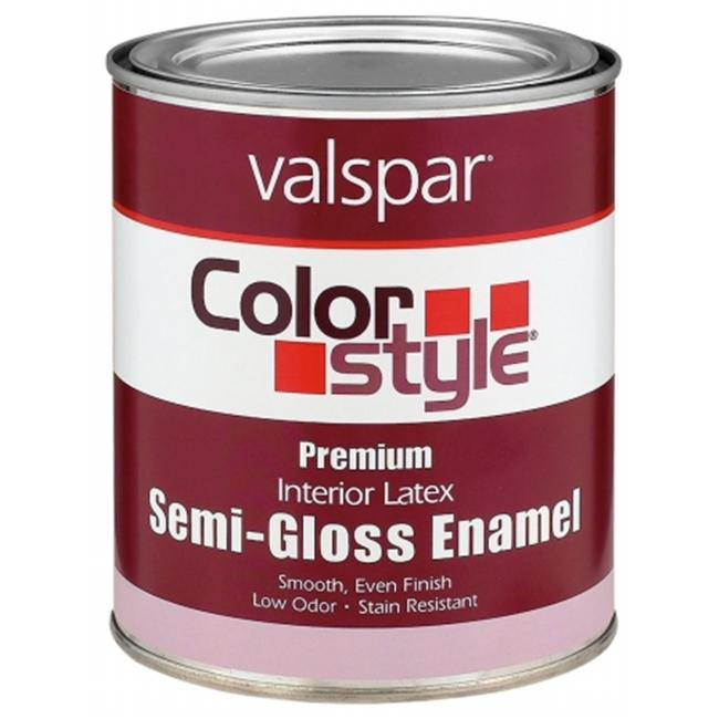 Valspar Brand 1 Quart White ColorStyle Interior Latex Semi Gloss Enamel Paint 4
