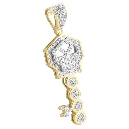 - Major Key Pendant 10k Yellow Gold Rick Ross Real Diamonds Custom Mens 1.3 Inch Charm