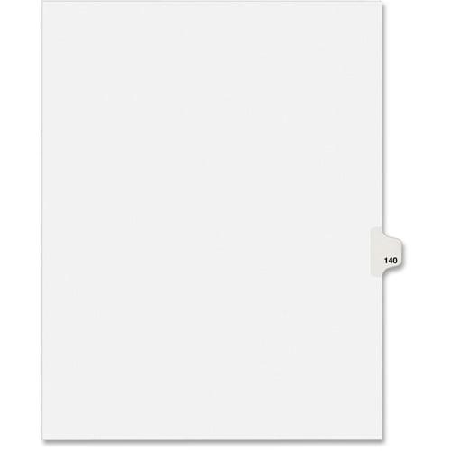 "Avery Individual Side Tab Legal Exhibit Dividers - 1 - Tab(s)Printed Exhibit 140 - 8.50"" Divider Width x 11"" Divider Len"