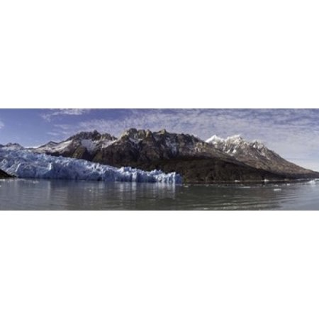 Lago Grey and Grey Glacier with Paine Massif Torres Del Paine National Park Magallanes Region Patagonia Chile Canvas Art - Panoramic Images (18 x -