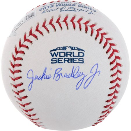 Jackie Bradley Jr. Boston Red Sox Autographed 2018 World Series Logo Baseball - Fanatics Authentic Certified