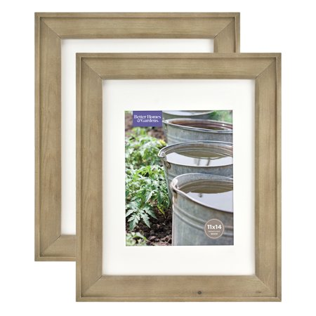 Better Homes & Gardens 11x14/8x10 Rustic Wood Picture Frame, - Rustic Frame