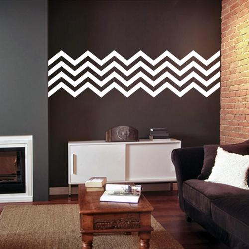 Chevron Stripes' 62 x 17-inch Wall Decals TEAL
