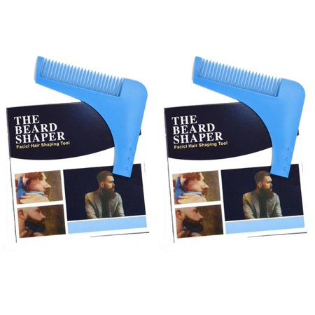Beard Shaper Comb for Shaving - Symmetric Beards Shaping Tool, Styling Template, Facial Hair Grooming Kit Guide for Men by Shave Classic (Pack of 2)
