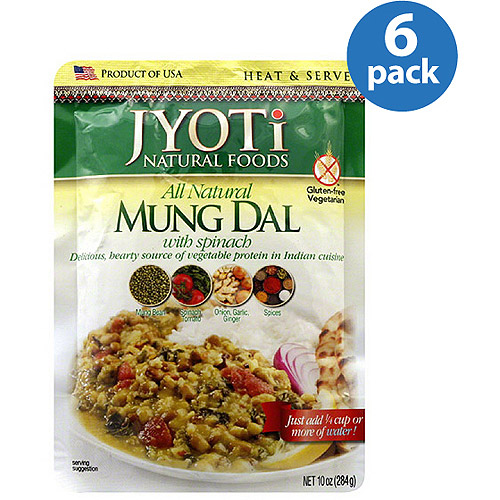 Jyoti All Natural Mung Dal with Spinachi, 10 oz, (Pack of 6) by Generic