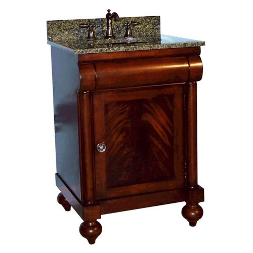 Kaco John Adams Single Bathroom Vanity in Brown Cherry with Optional Size and Countertop