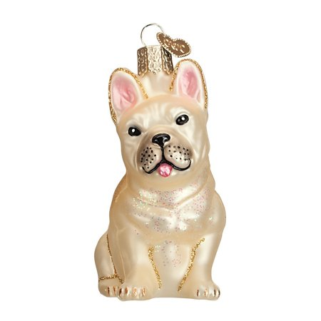 French Bulldog Glass Blown Ornament, Hand crafted in age-old tradition using techniques that originated in the 1800's By Old World Christmas - Old World Christmas Halloween Ornaments Sale