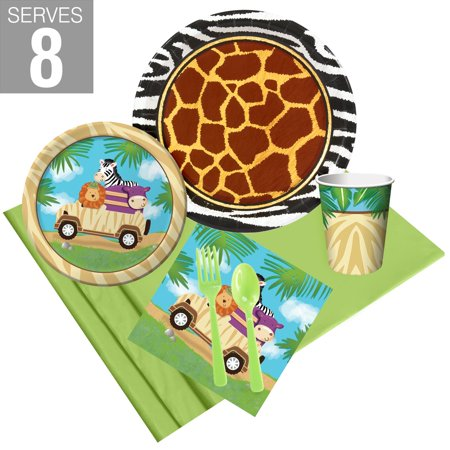 Wild Safari Party Pack For 8