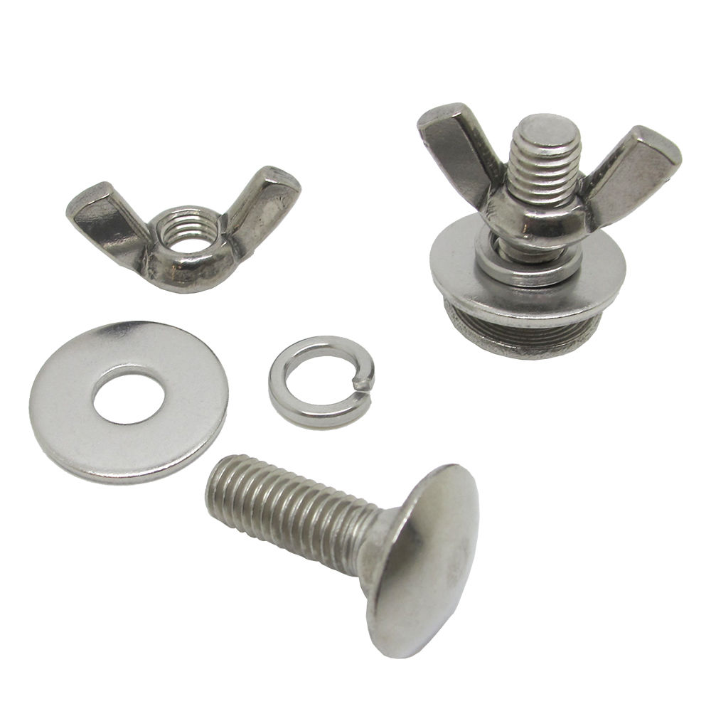Tech Diving Stainless Steel Butterfly Screw Bolts Wing Nuts for Backplate, Pair