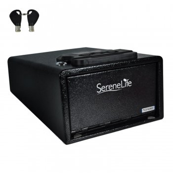 Electronic Firearm Gun Safe - Pistol Security Box with Mechanical Override, Includes (Pistol Safe)