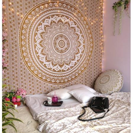 Brown Mandala Tapestry Boho Decorative Wall Tapestries