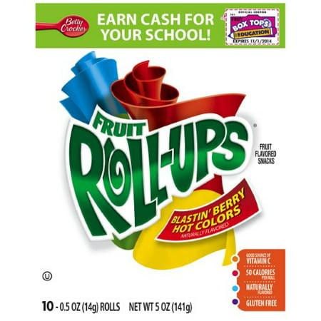 Betty Crocker Fruit Snacks, Fruit Roll-Ups, Blastin' Berry ()