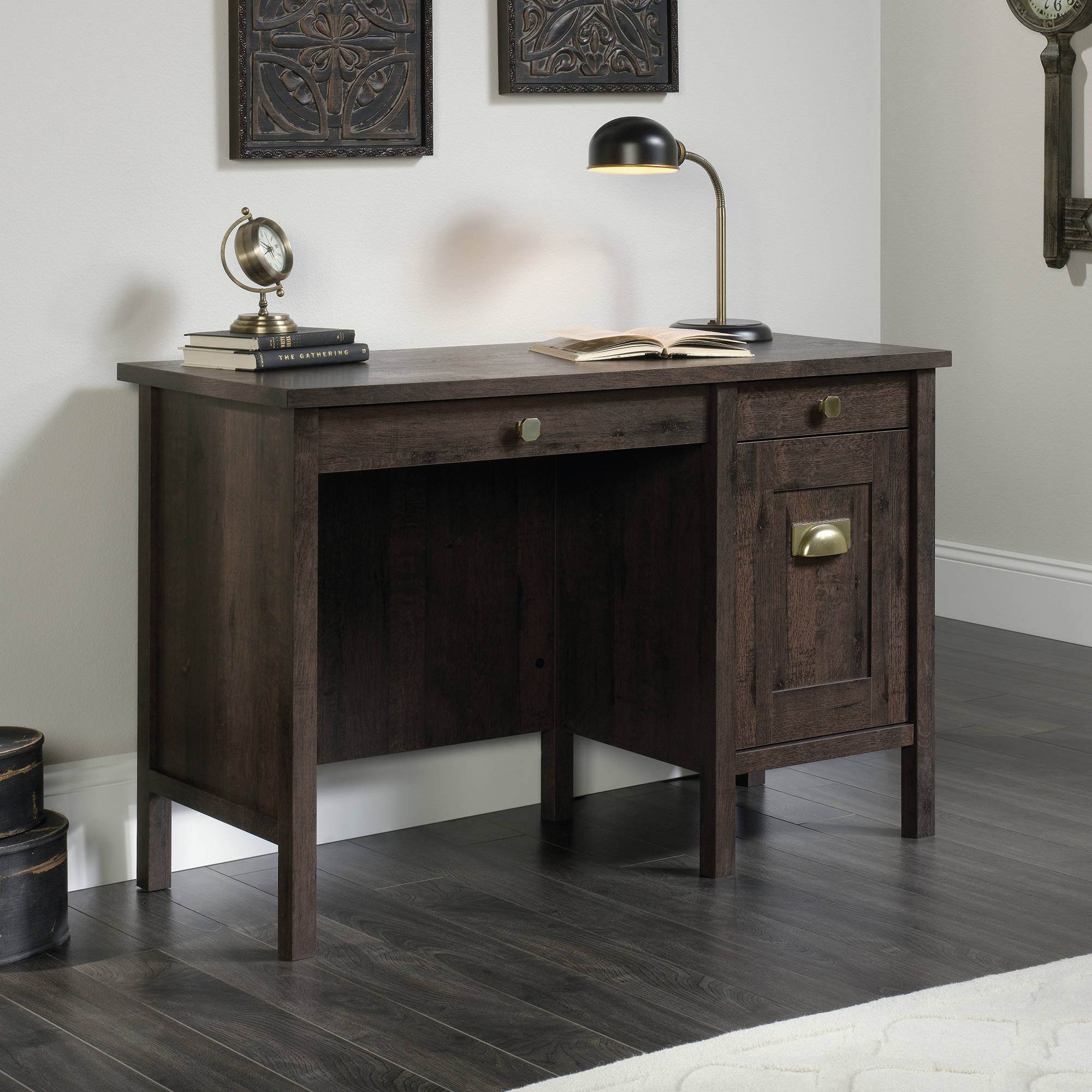 Sauder New Grange Desk, Coffee Oak
