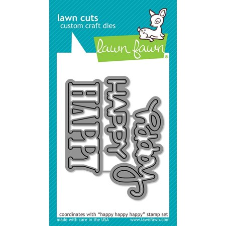 Universal Die - Cuts Happy Happy Happy Universal Custom Craft Cutting Dies Lf1335, Lawn Fawn custom craft dies are made of 100% high-quality steel, compatible with most.., By Lawn Fawn