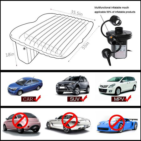 Car Bed Back Seat Inflatable Air Mattress for Camping Travel - image 2 de 8