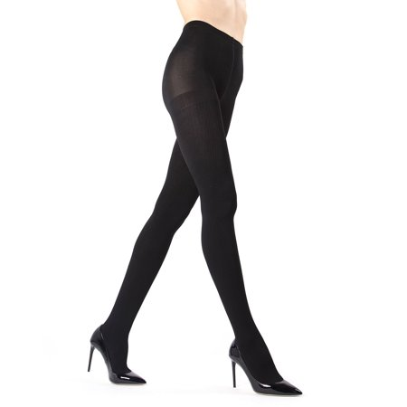 Memoi Ribbed Plush Lined Fleece Tights | Women