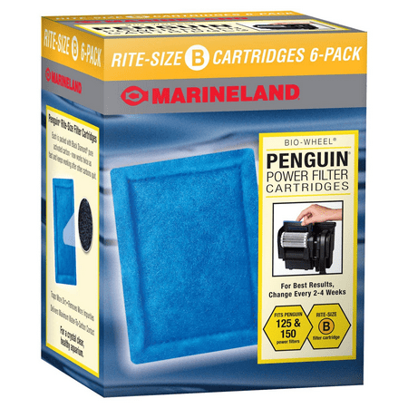 Marineland Penguin Bio-Wheel Power Filter Cartridges, Size B 6 -