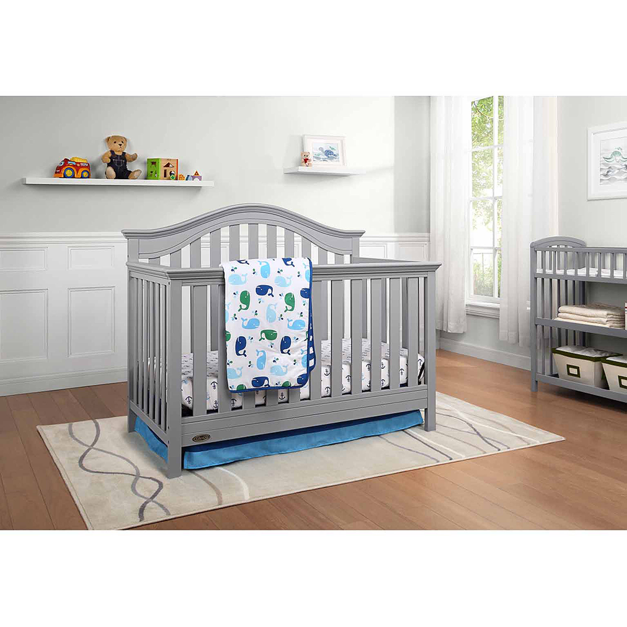 Graco Bryson 4-in-1 Convertible Fixed-Side Crib, (Choose Your Finish)