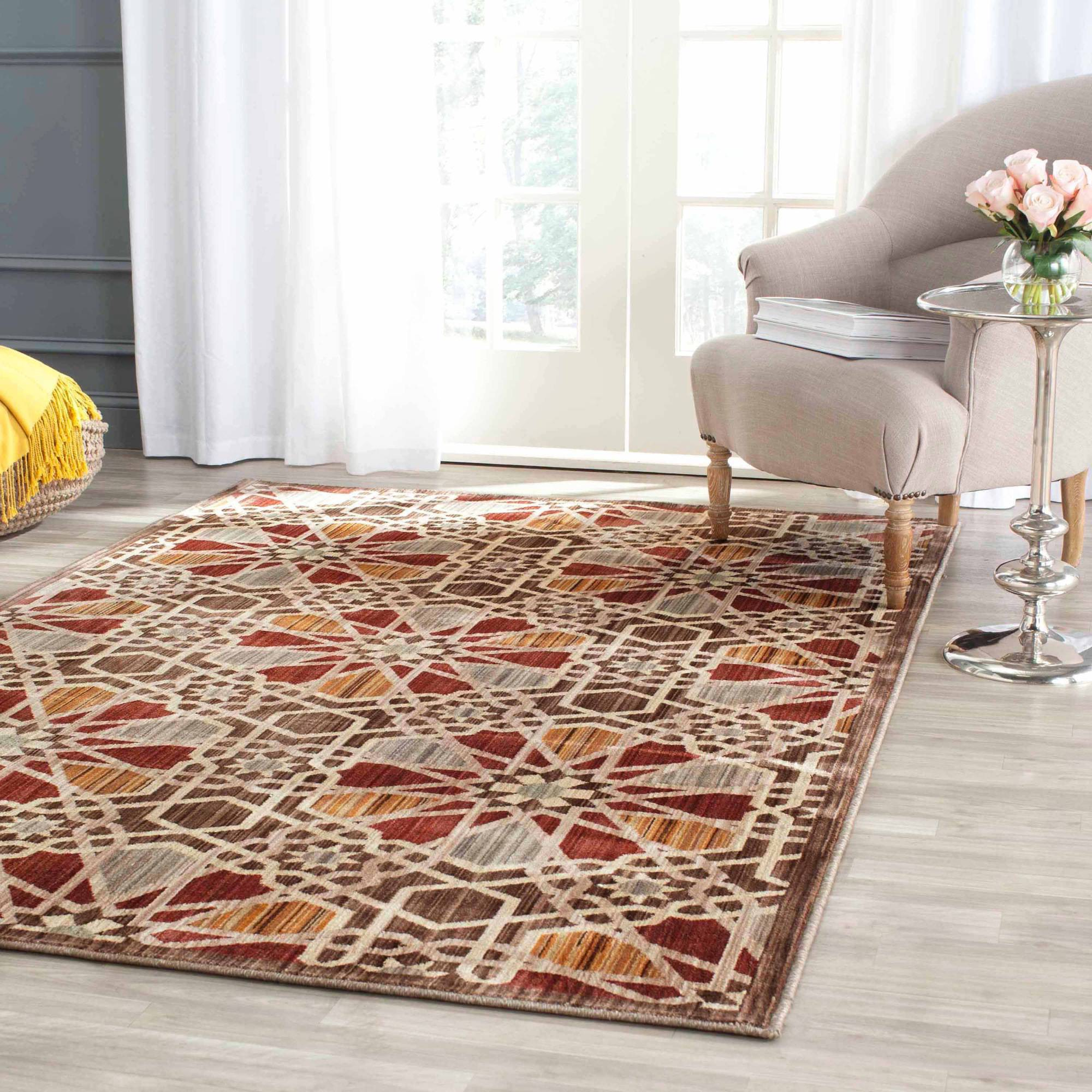 "Safavieh Infinity Cahal Power-Loomed Area Rug, 5'1"" x 7'6"", Brown/Beige"