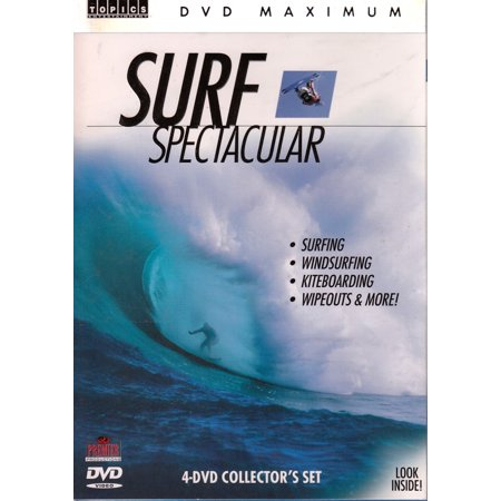 Surf Spectacular 4 Dvd Set Surfing  Windsurfing  Kiteboarding  Wipeouts And More