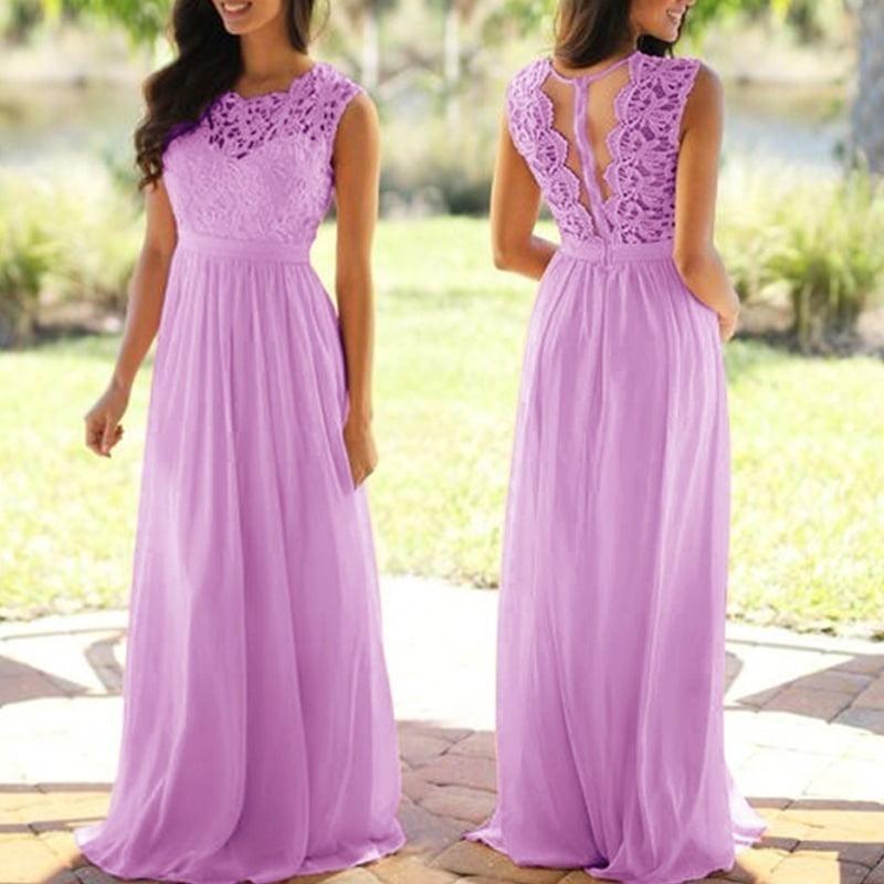 Lovaru Wedding Guest Dress Ladies Fashion Lace Applique Party
