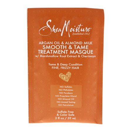 Argan Oil and Almond Milk Smooth and Tame Treatment Masque by Shea Moisture for Unisex - 2 oz Masque - image 3 de 3