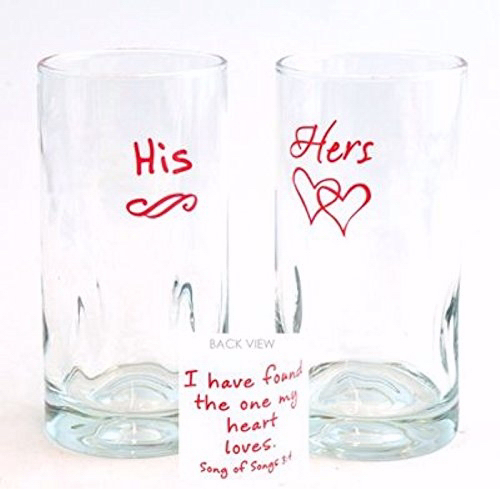 Glass Tumbler Set-Found The One... His/Hers (16 Oz) (Set Of 2 Assorted)