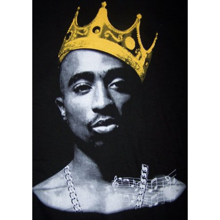 King 2Pac Tupac Shakur  US Screen Printed  Cotton Hip Hop T-Shirts - Medium - Gifts  (HHTS9-M*) - Hip Hop Halloween Sf