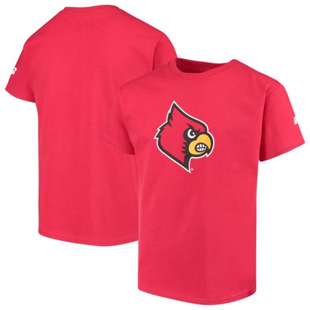 Louisville Cardinals Russell Youth Oversized Graphic Crew Neck T-Shirt - Red