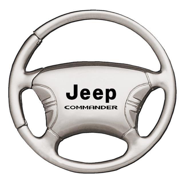 INC Au-Tomotive Gold Jeep Wrangler Black Chrome Steering Wheel Keychain