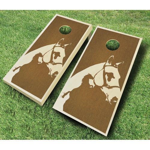 AJJ Cornhole Horse 10 Piece Cornhole Set by