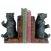 Bookends Bookend MOUNTAIN Rustic Playful Sitting Bear Resin New Hand-Cast OK-174