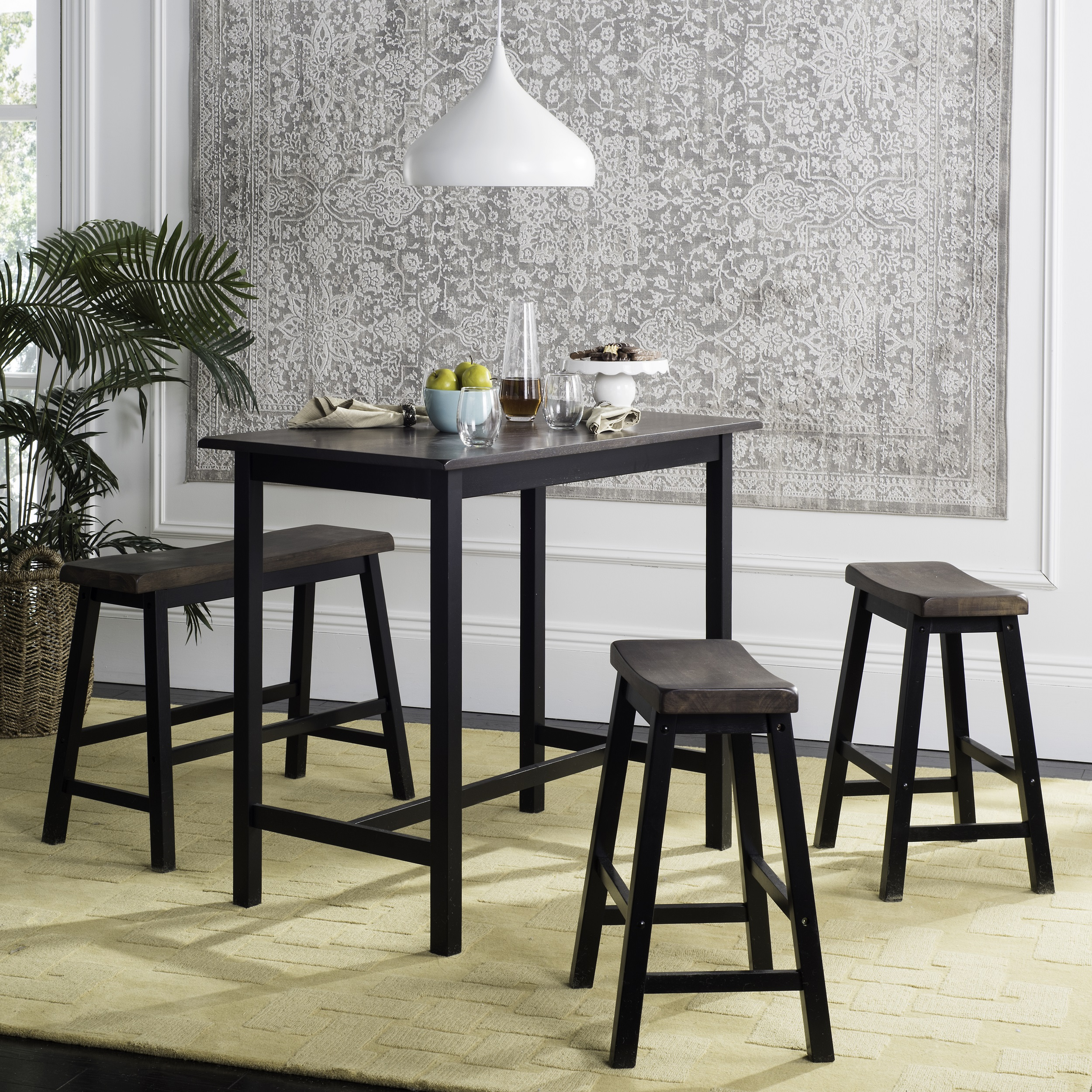 Safavieh Ronin Contemporary Glam 4 Piece Set Pub Table