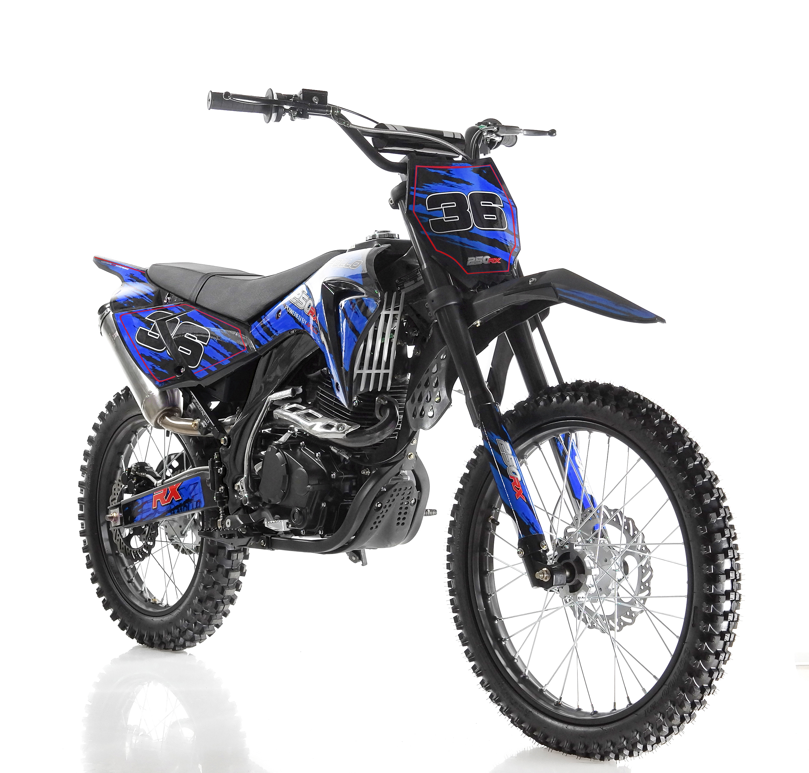 "APOLLO DB-36 250cc Dirt Bike with 5 Speed Manual Transmission, Big 21""/18"" Wheels!"