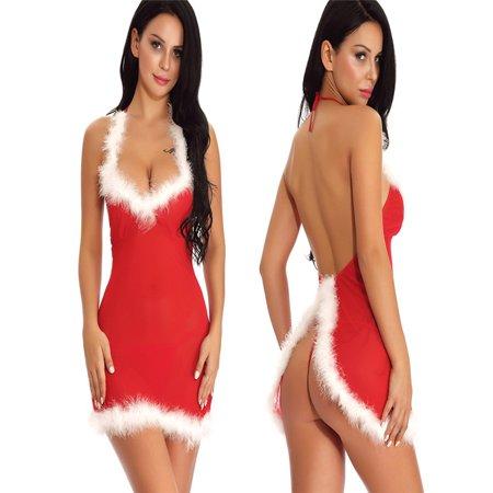 Christmas Women Sexy Underwear Suit Mesh Perspective Temptation - Christmas Parties