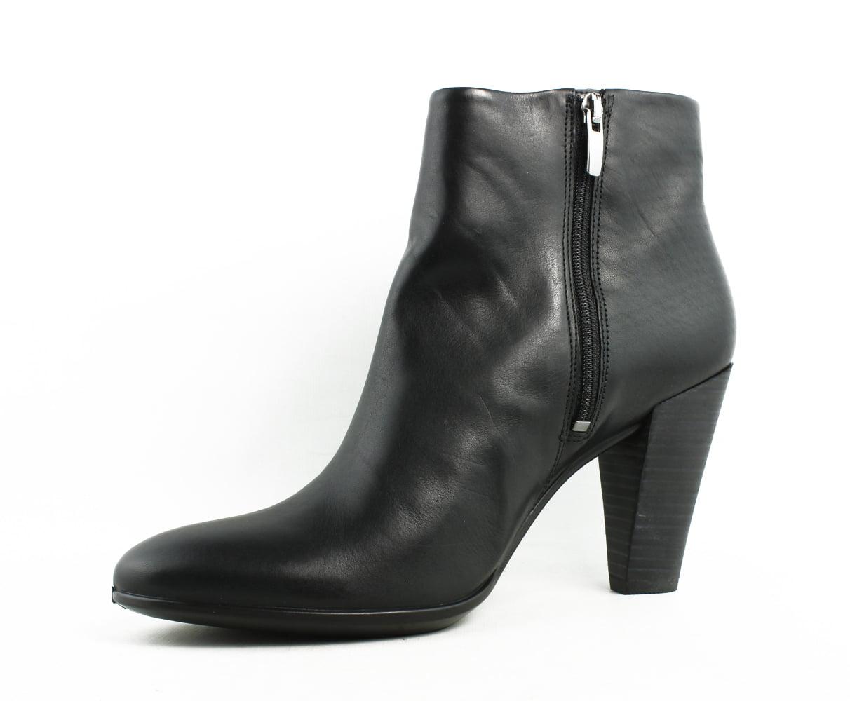 New ECCO Womens 268583 Black Fashion Boots Size 10