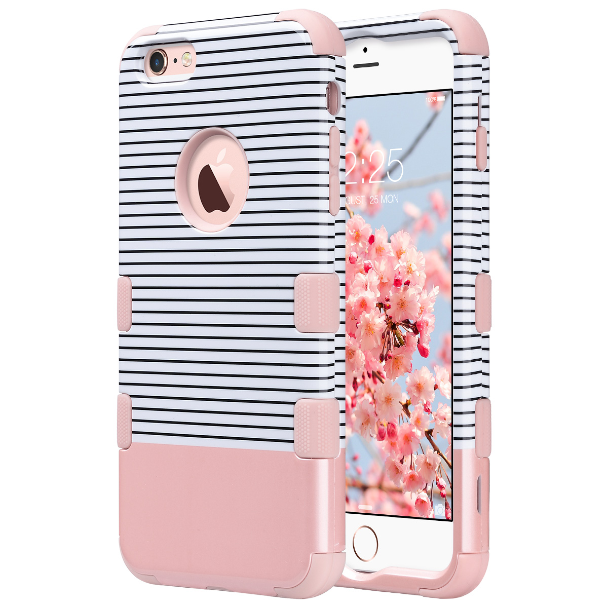 iPhone 6S Plus Case,iPhone 6 Plus Case, ULAK Shockproof Hybrid High Impact Hard Plastic + Soft Silicone Rubber Case Cover for Apple iPhone 6S Plus / 6 Plus 5.5 inch - Rose Gold