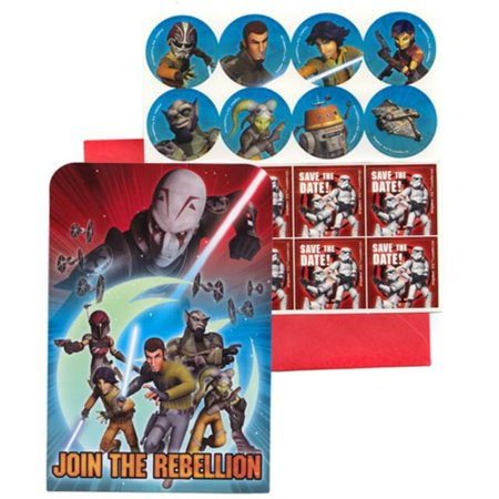 Disney Star Wars Rebel Birthday Party Invitation 16 Count Save The Date Stickers