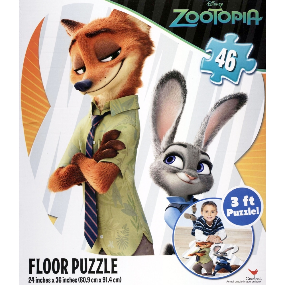 Zootopia 46 Piece Floor Puzzle,  Kids Movies by Cardinal