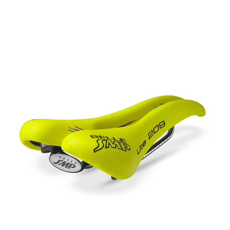 selle smp lite 209 bicycle saddle fluorescent yellow synthetic road mountain. Black Bedroom Furniture Sets. Home Design Ideas