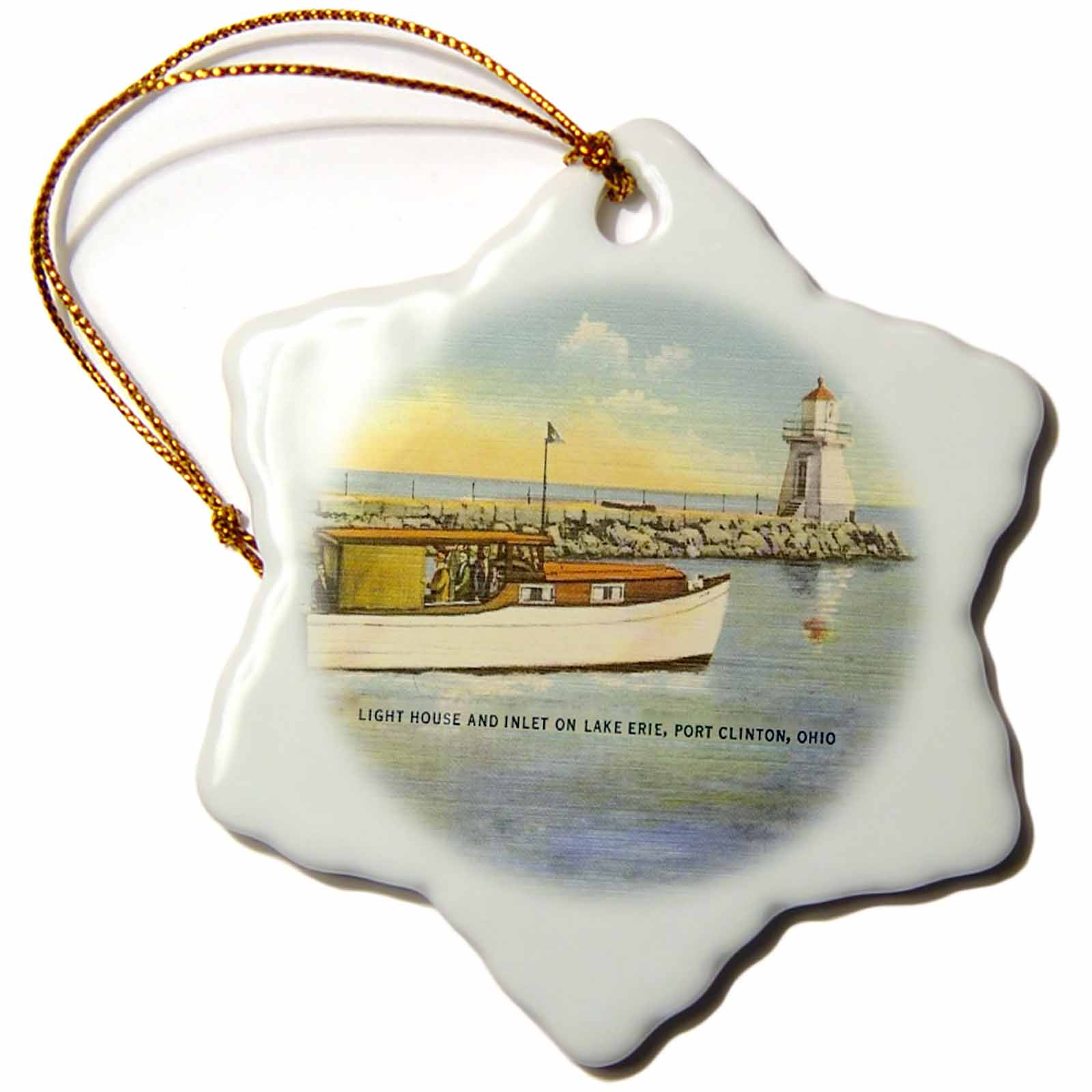 Christmas Tree Store Erie Pa: 3dRose Port Clinton Lighthouse Looking Over Lake Erie
