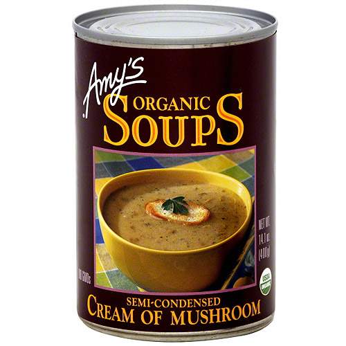Amy's Kitchen Cream Of Mushroom Soup, 14.1 oz (Pack of 6)