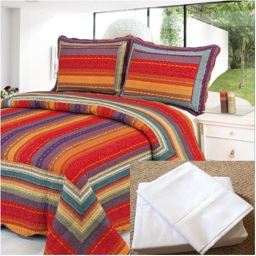 Home Sensation Reversible 7 Piece Quilt Set