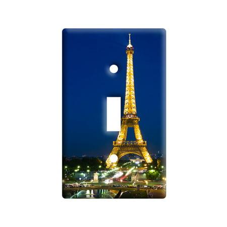 Paris - Eiffel Tower at Night Light Switch Plate (Night Light Switchplate)